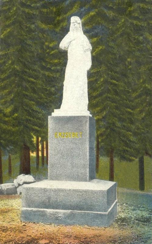 Herkulesfürdő:Erzsébet (Sisi) királyné szobor.1916