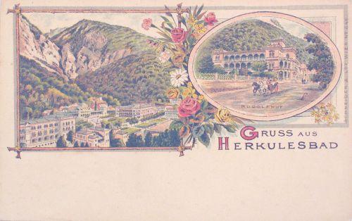 Herkulesfürdő:Rudolf udvar.1899