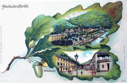 Herkulesfürdő:Herkules tér.1900