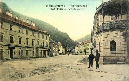 Herkulesfürdő:Herkules tér.1912