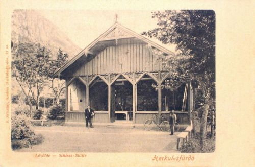 Herkulesfürdő:lövölde.1901