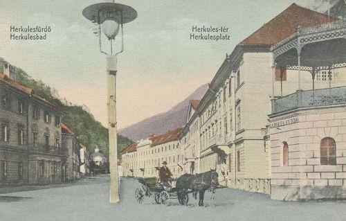 Herkulesfürdő:Herkules tér.1910