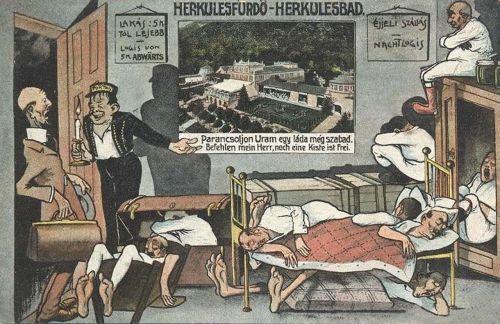 Herkulesfürdő:szálláshiány a főszezonban.1910