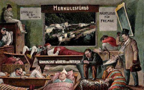Herkulesfürdő:éjszakai szállás a főszezonban.1911
