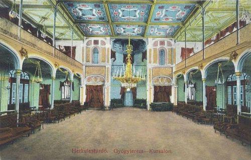 Herkulesfürdő:Gyógyterem belseje.1912