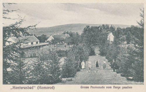 Homorod (Honterusbad):Nagy sétány és park.1932