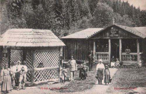 Homorodfürdő:Főkút és Hideg fürdő.1908