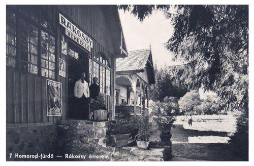 Homorod-fürdő:Rákossy étterem és vendéglő.(Fenyőviz reklám) 1941