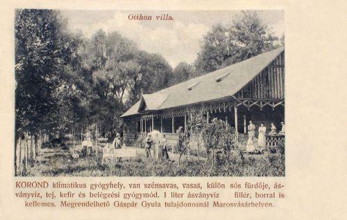 Korond:Otthon villa,ásványviz,tej,kefir és belégzési gyógymod.1903