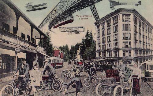 Tusnád: a jövőben,száz év múlva.1911
