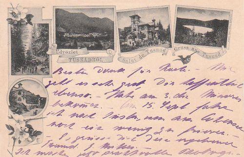 Tusnádfürdő:sétány a főkút felé,Bánffy villa,Szegedi ház.1894!