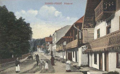 Tusnád:Posta utca.1913