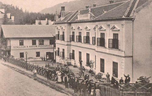 Tusnád:Három Huszár Szálloda.1910