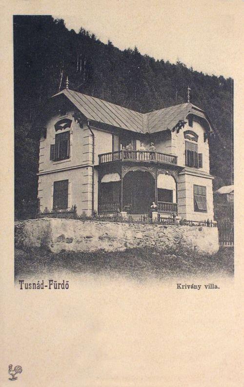 Tusnád:Krivány villa.1902
