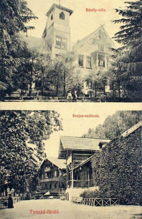Tusnád:Bánffy villa és Svájc szálloda.1908