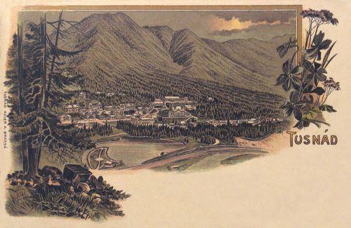 Tusnád-Tusnad:látkép a tóval,kőnyomat.1899