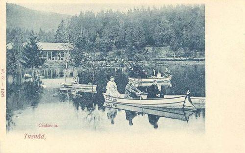 Tusnád:Csukás tó csónakokkal.1901