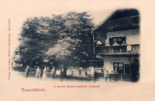 Tusnádfürdő:Három Huszár Szálloda, részlet.1900