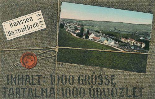 Báznafürdő-Basna-Baasen:látkép.1908