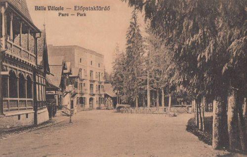 Előpatak: park,Zathureczky és Bogdán villa.1928