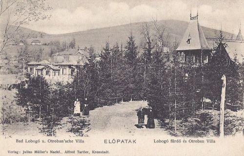 Előpatak:Lobogó fürdő és Otrobán villa.1904