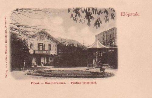 Előpatak:Főkút a villákkal.1902