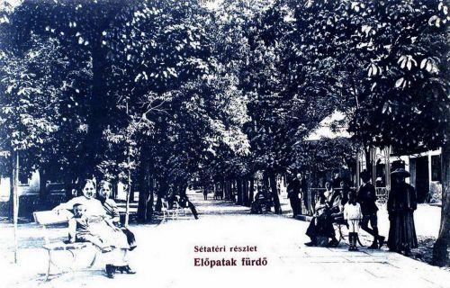 Előpatak-fürdő:sétatéri részlet.1908