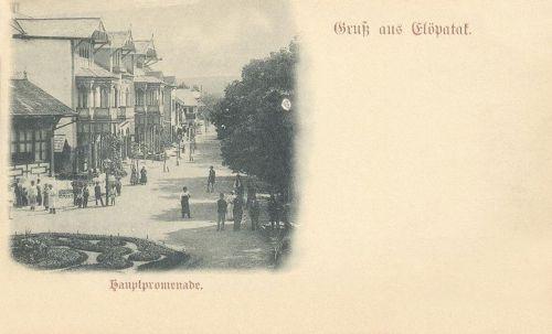 Előpatak:fő sétány.1900