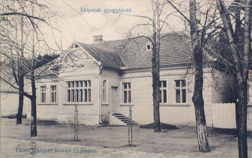 Előpatak gyógyfürdő:fürdő igazgató irodája és lakása.1911