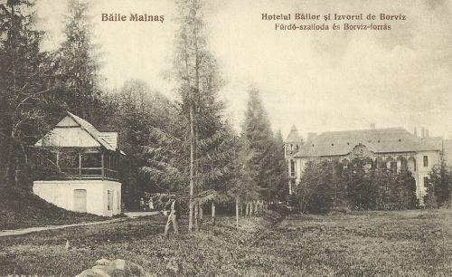 Málnás:Fürdő szálloda (Ilonka villa) és borviz forrás.1927