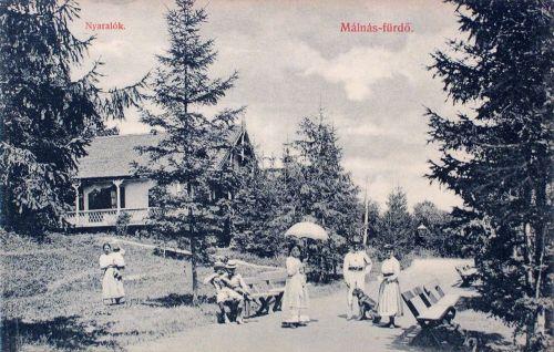 Málnás-fürdő:nyaralók.1908