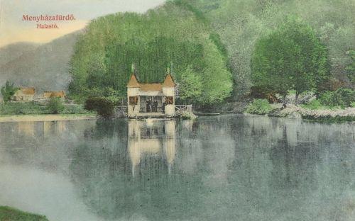 Menyháza fürdő:halastó.1909