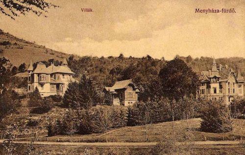 Menyháza fürdő:villák.1911