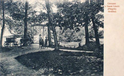 Püspökfürdő: Szent László főherceg sziget.1907