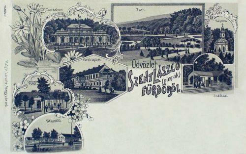 Püspökfürdő-Szent László fürdő:kőnyomat.1899