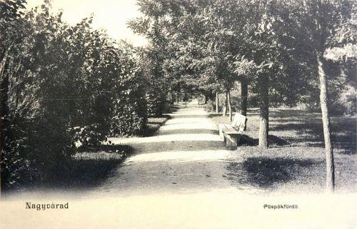Püspökfürdő:park részlet.1903