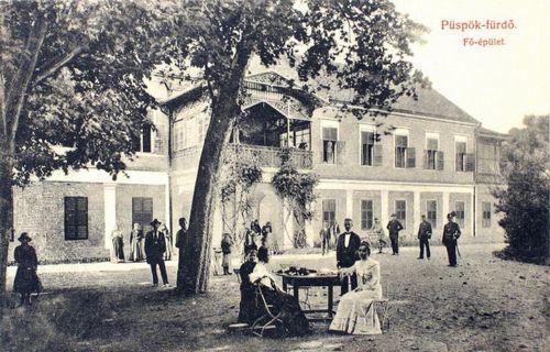 Püspökfürdő:Főépület.1908