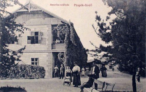 Püspökfürdő:Amerika szálloda.1910