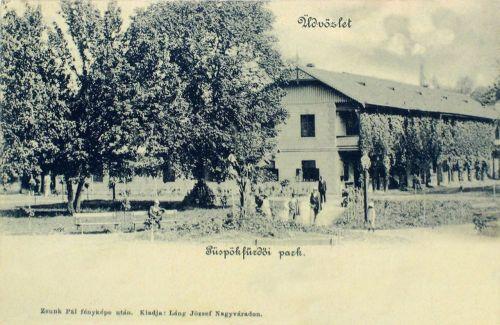 Püspökfürdő:park az Amerika szállodával.1901