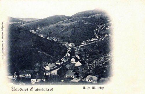 Stájerlak:második és harmadik telep.1900