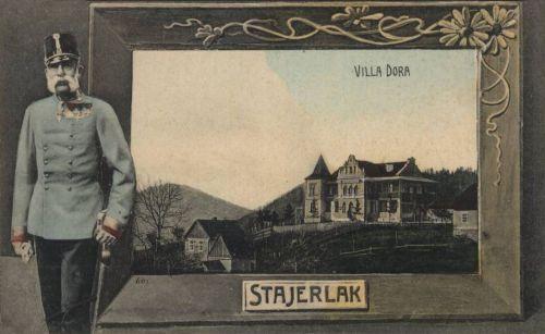 Stájerlak:Ferencz József király és Dora villa.1907