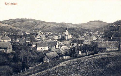 Stájerlak:látkép a templommal.1912