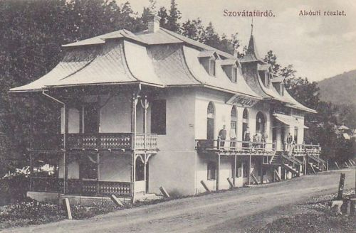 Szovátafürdő:Alsó úti részlet Kovács Lajos üzletével.1915