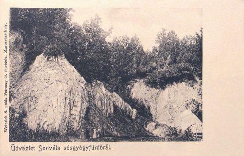 Szováta:sósziklák.1902
