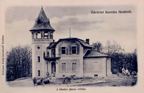 Szováta-fürdő:Sándor János főispán villája.1901