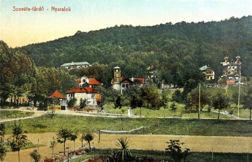 Szováta:nyaralók és teniszpálya.1913
