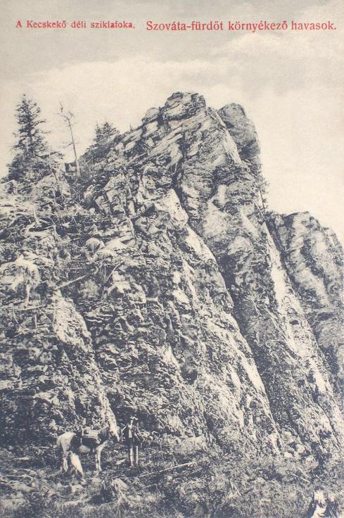 Szováta:Kecskekő déli sziklafoka.1909