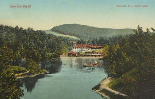 Szováta:Medve tó és a fürdőházak.1916