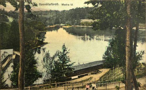 Szovátafürdő:Medve-tó látképe.1911