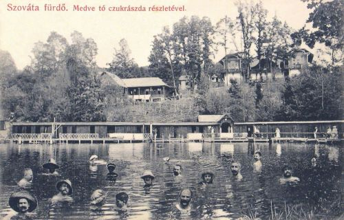 Szovátafürdő:Medve tó és cukrászda.1909